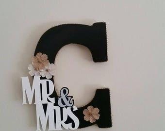 Custom Mr & Mrs monogram