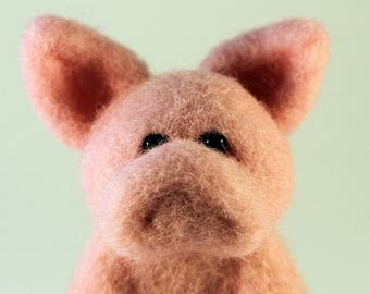 Needle Felted Wool Pig/Piglet