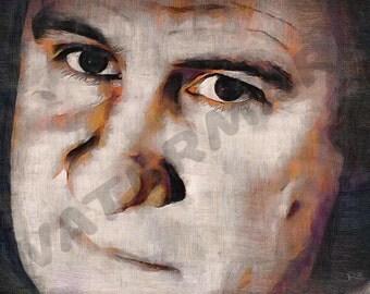 Gerard Depardieu Art Print - Oil painting Poster