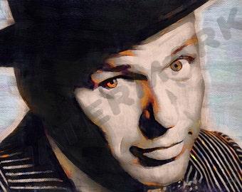 Frank Sinatra Art Print - Rat Pack Oil Painting Poster  LFF0047