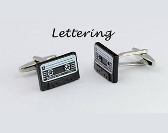 Personalised Cufflinks,Cassette Tape Cufflinks,Retro Cufflinks, Tape Cufflinks, Music Cufflinks,Cassette Cufflinks,Retro Cufflinks
