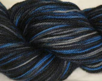"Wool/Nylon Sock Yarn Hand-painted ""Toby"""