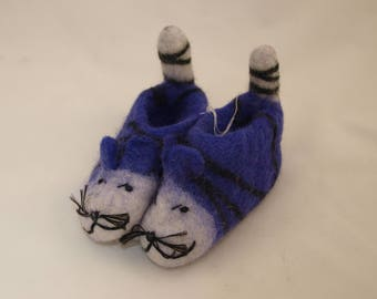 Felted BABY SLIPPERS 100% Wool
