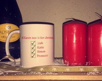 Christmas List Mug