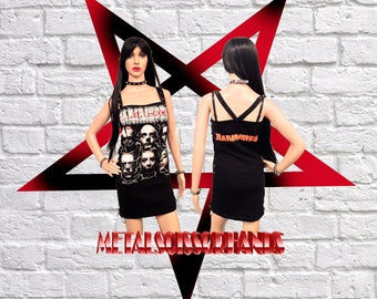 Rammstein Dress industrial metal spikes Germany Handmade Corset Gothic