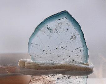 3.95 ct polished Indicolite Tourmaline slice fo m Kunar, Afghanistan D7
