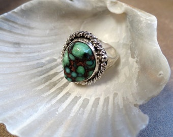 Beautiful Sterling Silver Variscite Ring 1134