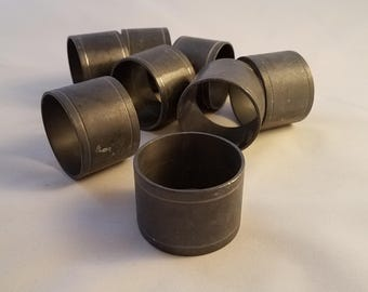 Pewter Napkin Rings Vintage from 1980s Set of 8