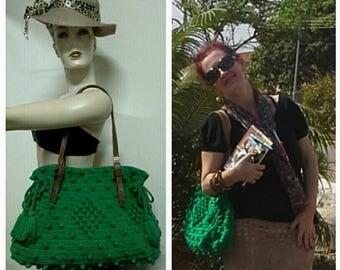 Crochet Bag  Gerard Darel. Crochet Bag  .  Green crochet bag . Fashion bag Crochet Bag  .