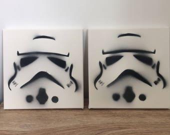 Storm Trooper wall art canvas Star Wars