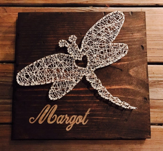 Home Made Modern Craft Of The Week 2 Rustic Christmas Stars: Dragonfly String Art Rustic Home Decor Nursery By