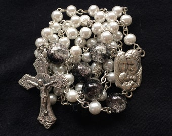 Handmade Glass Bead Rosary