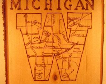 Western Michigan University and Kalamzoo Map