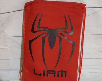 Drawstring canvas backpack. 14''x9''