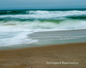 Dreamy Soft Waves, Fine art, canvas, wall decor, abstract photography, 11x14