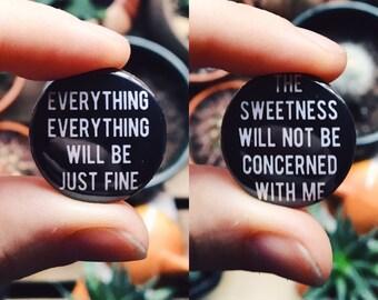 "Jimmy Eat World Bleed American emo lyrics 1"" pinback button"