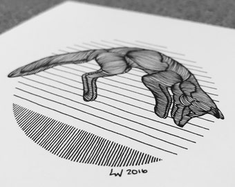Jumping Fox Print
