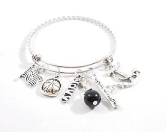 Navy Braided Bangle Bracelet