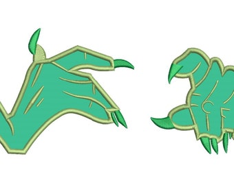 Orgoch The Black Cauldron Hands Applique Design 3 sizes instant download