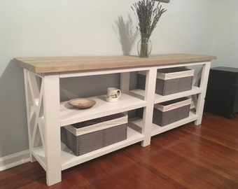 Rustic X Console Table / farmhouse X table