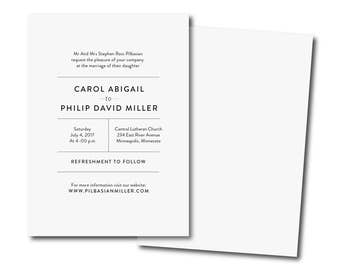 printable wedding invitation,Simple Wedding Invitation,Black and White Affordable Invitation,modern Minimalist Printable DIY Invite