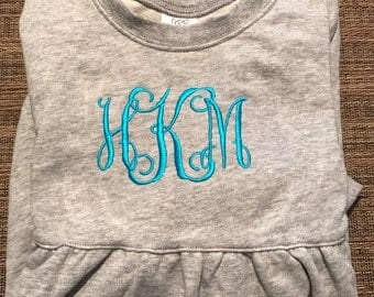 Monogrammed Girls Long Sleeve Bubble Sweatshirt FREE SHIPPING