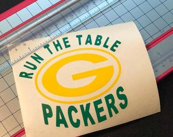 Run the Table - Aaron Rogers - Green Bay Packers - Green Bay Decal - Packers Decal - Green Bay - Cheesehead