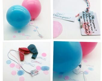 Balloons surprises popping to discover the sex of baby