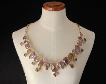 Faceted Ametrine necklace and Silver 925%