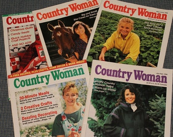 5- Country Woman Magazines ~Collectible~
