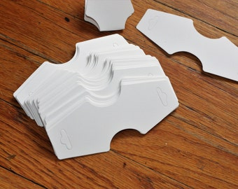 Plain white neckalce tags