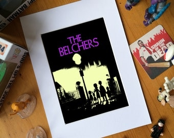The Belchers, bobs burgers, the exorcist, mashup, louise belcher, tina belcher, glossy print