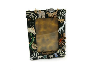 Animal-Themed Jeweled Picture Frame