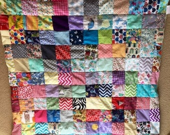 Gorgeous hand sewn Baby Patchwork Quilt