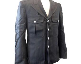 Black Man's Tunic/Jacket - British Army Military Uniform - Vintage