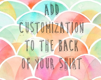 Add Your Wedding Date Or Customization To Your Shirt Set!
