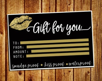 LipSense Gift Certificate Card - Gift For You Card - Gift Card - SeneGence Marketing Card - Instant Download - YOU PRINT - 4x6