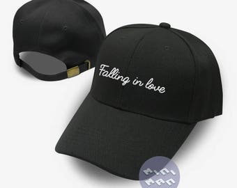 Falling in love Dad Hat Embroidery  Baseball Cap Tumblr Pinterest Unisex Size
