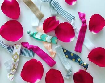 Ribbon Hair Bands/Bracelet, bride hairties, bride hairbands, gentle hair ties