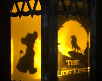 The Lion King  Inspired Battery-Operated Plastic Mini Lanterns (Gold)