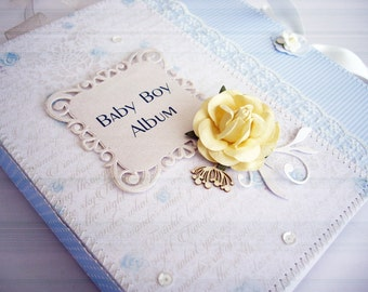 AVAILABLE Scrapbook Baby Boy Album Scrapbook Album Personalized Scrapbook album Baby Scrapbook Newborn book Baby Album