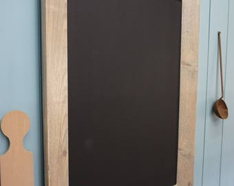 Stylish Chalkboard/ Menu Board. Framed Blackboard with silver leaf trim.