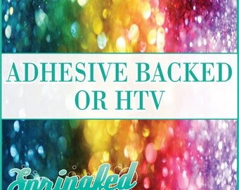 Rainbow Faux Glitter Pattern #1 Adhesive or HTV Heat Transfer Vinyl for Shirts Crafts and More!