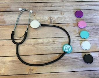 Nurse Stethoscope Cover Tag ID Doctor Nurses Week Gift Mint Pink Purple White Black