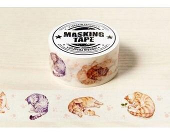 Washi Tape, Masking Tape, tape adhesive scrapbooking cats