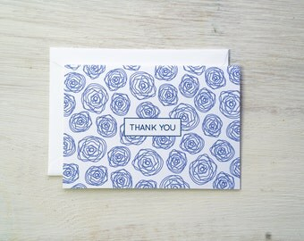 Thank You Card Set | Wire Rose - Set of 8