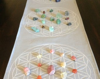 Large triple crystal grid flower of life. Perfect for weddings, parties, home decor