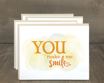 Kindness cards, inspirational notecards, You Make Me Smile