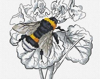 """Cross stitch pattern """"Humble-bee"""""""