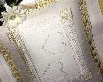Rings cushion Pillow-Rings Hearts Hearts